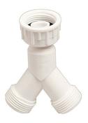 Dérivation Y pour alimentation machine à laver mâle 20x27 femelle 20/27 - Evacuation machine à laver - Plomberie - GEDIMAT
