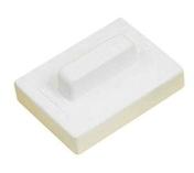 Frottoir en polystyrène expansé rectangulaire monobloc de 27x15cm MOB MONDELIN - Riflard lame inox trempé Mondelin manche plastique larg.7cm - Gedimat.fr