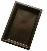 Augette à raccords polyéthylène haut.7cm larg.22cm long.32cm 3L noir - Rive à rabat gauche à emboîtement MEDIANE coloris tradition - Gedimat.fr