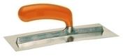 Platoir lame courbe inox poignée plastique Long.28cm larg.12cm - Outillage du plaquiste et plâtrier - Outillage - GEDIMAT