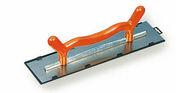 Platoir 2 mains lame inox monture aluminium poignée plastique ép.0,6mm larg.12cm long.50cm - Platoir 1 main lame inox trempé biseauté larg.10cm long.35cm - Gedimat.fr