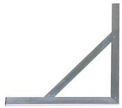 Equerre en aluminium avec écharpe larg.60cm long.100cm - Gabarit de pose briques POROTHERM maçonnerie à la truelle 20 cm 2 joints - Gedimat.fr