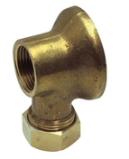 Applique coudée laiton brut femelle à raccord bicône diam.15x21mm à souder diam.12mm sous coque de 1 pièce - Robinetterie du bâtiment - Plomberie - GEDIMAT