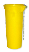 Goulotte d'évacuation de gravats haut.110cm diam.52/39cm jaune - Porte de service PVC Blanc DIEPPE gauche poussant haut.2,00m larg.90cm - Gedimat.fr