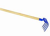 Croc de jardin à douille 4 dents triangulaires acier forgé manche bois frêne verni 18cm - Outillage du jardinier - Outillage - GEDIMAT