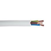 Câble électrique souple H05VVF section 3G6mm² coloris blanc vendu à la coupe au ml - Fils - Câbles - Electricité & Eclairage - GEDIMAT