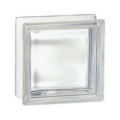 Brique de verre 198 ép.8cm dim.19x19cm transparente - Support SPHERIQUE ABS - Gedimat.fr