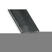Profilé acier plat 30mm acier laminé à chaud ép.6mm long.2m - Baguette d'angle extérieur pour lambris PACAYA larg.28mm haut.28mm long.2700mm - Gedimat.fr