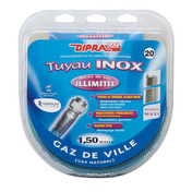 Tuyau flexible inox Vitagaz gaz naturel écrous 15x21 - long.1,50m - Alimentation gaz - Plomberie - GEDIMAT