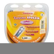 Tuyau flexible inox Vitagaz butane/propane écrous 20x150 - 15x21 - long.1m - Alimentation gaz - Plomberie - GEDIMAT