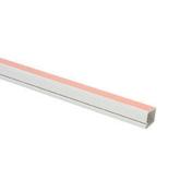 Moulure cache-fil électrique adhésive larg.12mm ép.12mm long.2m coloris blanc - Gaines - Tubes - Moulures - Electricité & Eclairage - GEDIMAT