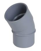 Coude PVC d'évacuation d'eau usée NICOLL mâle-femelle diam.50mm angle 30° coloris gris - Demi rond Pin des Landes sans nœud rayon 25mm long.2m - Gedimat.fr