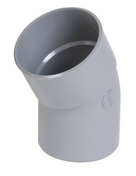 Coude PVC d'évacuation d'eau usée NICOLL mâle-femelle diam.100mm angle 30° coloris gris - Porte de service GUAGNO en aluminium laqué gris gauche poussant haut.2.15m larg.90cm - Gedimat.fr