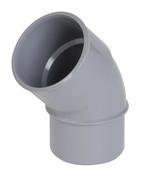 Coude PVC d'évacuation d'eau usée NICOLL mâle-femelle diam.40mm angle 45° coloris gris - Té pied de biche simple petit rayon PVC Nicoll femelle-femelle égal angle 87°30 diam.50mm coloris gris - Gedimat.fr