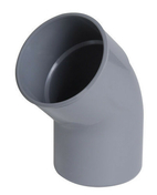 Coude PVC d'évacuation d'eau usée NICOLL mâle-femelle diam.160mm angle 45° coloris gris - Porte d'entrée LUCILLE Aluminium laqué gauche poussant haut.2,15m larg.90cm gris - Gedimat.fr