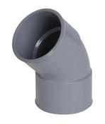 Coude PVC d'évacuation d'eau usée NICOLL femelle-femelle diam.50mm angle 45° coloris gris - Grille entrée d'air auto-réglable coloris blanc larg.380mm haut.34mm - Gedimat.fr