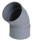 Coude PVC d'évacuation d'eau usée NICOLL femelle-femelle diam.63mm angle 45° coloris gris - Pince pour chevilles diam.4 à 6mm - Gedimat.fr