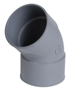 Coude PVC d'évacuation d'eau usée NICOLL femelle-femelle diam.80mm coloris gris angle 45° - Portail coulissant GAEL en aluminium Haut.1,60 m Larg.entre piliers 4,00 m gris 7016 STR - Gedimat.fr