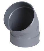 Coude PVC d'évacuation d'eau usée NICOLL femelle-femelle diam.200mm angle 45° coloris gris - Porte de service isolante BAYEUX en PVC ISO160 Blanc gauche poussant haut.2,15m larg.90cm - Gedimat.fr