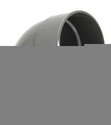 Coude PVC d'évacuation d'eau usée NICOLL mâle-femelle diam.125mm angle 67°30 coloris gris - Porte d'entrée LUCILLE Aluminium laqué gauche poussant haut.2,15m larg.90cm gris - Gedimat.fr