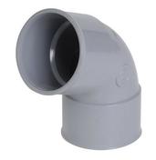Coude PVC d'évacuation d'eau usée NICOLL femelle-femelle diam.50mm angle 67°30 coloris gris - Modénature perforée pour enduits grattés avec jonc PVC coloris blanc long.3m ép.10mm - Gedimat.fr