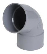 Coude PVC d'évacuation d'eau usée NICOLL femelle-femelle diam.100mm angle 67°30 coloris gris - Mesure boitier ABS chromé antichoc ruban larg.25mm long.8m - Gedimat.fr