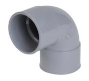 Coude PVC d'évacuation d'eau usée NICOLL femelle-femelle diam.32mm angle 87°30 coloris gris - Manche à balai droit acier plastifié long.1,2m en vrac 1 pièce - Gedimat.fr