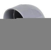 Coude PVC d'évacuation d'eau usée NICOLL femelle-femelle diam.100mm angle 87°30 coloris gris - Peinture acrylique 2,5L coloris chocolat - Gedimat.fr