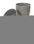 Culotte PVC d'évacuation d'eau usée NICOLL mâle-femelle diam.80mm angle 45° coloris gris - Interrupteur va et vient encastré mono référence commande simple Ovalis blanc - Gedimat.fr