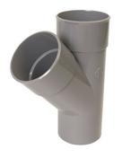 Culotte PVC d'évacuation d'eau usée NICOLL mâle-femelle simple coloris gris UBT14 diam.100mm angle 45° - Rive individuelle droite PLATE 17x27 Phalempin coloris vieilli - Gedimat.fr