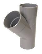 Culotte PVC d'évacuation d'eau usée NICOLL mâle-femelle diam.160mm angle 45° coloris gris - Porte d'entrée LUCILLE Aluminium laqué gauche poussant haut.2,15m larg.90cm gris - Gedimat.fr