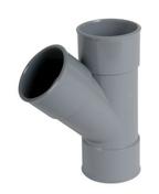 Culotte PVC d'évacuation d'eau usée NICOLL femelle-femelle diam.50mm angle 45° coloris gris - Entonnoir siphon pour chauffe-eau échappement diam.26x34mm - Gedimat.fr