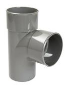 Culotte PVC d'évacuation d'eau usée NICOLL mâle-femelle diam.80mm angle 87°30 coloris gris - Faîtière 1/2 ronde à emboîtement coloris argentique - Gedimat.fr
