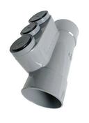 Culotte PVC NICOLL oblongue diam.100mm + prises 50/40/32 - GEDIMAT - Matériaux de construction - Bricolage - Décoration