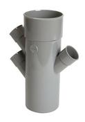 Culotte PVC NICOLL triple parallele 45°diam.100mm+3pris diam.40mm - Poutre en béton précontrainte PSS LEADER section 20x20cm long.5,10m - Gedimat.fr
