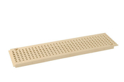 Grille PVC pour caniveau NICOLL GR77PS gamme connecto modèle piscine coloris sable long.0,5m - Feuille de stratifié HPL sans Overlay ép.0.8mm larg.1,30m long.3,05m décor Amélanche finition Velours bois poncé - Gedimat.fr