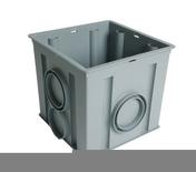 Regard PVC NICOLL pour eaux pluviales dim.30X30cm haut.30cm coloris gris - Porte d'entrée ZEN en aluminium droite poussant haut.2,15m larg.90cm laqué blanc - Gedimat.fr