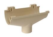 Naissance centrale à dilatation pour gouttière PVC de 25 NICOLL NAD25S coloris sable - Rive individuelle droite 16x27 coloris rustique - Gedimat.fr