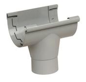 Naissance centrale à coller pour gouttière PVC de 25 NICOLL NAC25 coloris gris - Porte d'entrée LAMBDA 3 en PVC droite poussant haut.2,00m larg.90cm blanc - Gedimat.fr