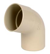 Coude PVC pour tube de descente de gouttière NICOLL diam.80mm angle 67°30 mâle femelle coloris sable - Tuile CANAL CHARENTAISE à blocage coloris paysage - Gedimat.fr