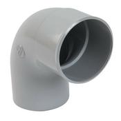 Coude PVC pour tube de descente de gouttière NICOLL diam.80mm angle 87°30 mâle femelle coloris gris - Coude laiton brut femelle à visser réf.90 diam.26x34mm 1 pièce en vrac avec lien - Gedimat.fr