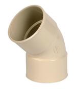 Coude PVC pour tube de descente de gouttière NICOLL diam.80mm angle 45° femelle femelle coloris sable - About d'arêtier pureau variable à emboîtement coloris tradition - Gedimat.fr