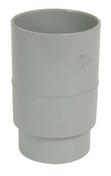Manchon PVC femelle femelle pour tube de descente de gouttière diam.80mm coloris gris - Gouttières - Descentes - Couverture & Bardage - GEDIMAT