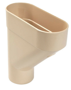 Cuvette de branchement type jambonneau PVC pour tube de descente de gouttière diam.80mm coloris sable - Coude PVC pour tube de descente de gouttière NICOLL diam.80mm angle 87°30 femelle femelle coloris sable - Gedimat.fr