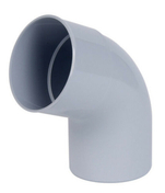 Coude PVC pour tube de descente de gouttière NICOLL diam.100mm angle 67°30 mâle femelle coloris gris - Laque brillante glycéro intérieur/extérieur 0,5L gris minéral - Gedimat.fr