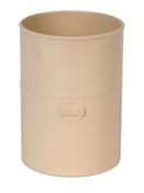 Manchon PVC femelle femelle pour tube de descente de gouttière diam.100mm coloris sable - Coude PVC pour tube de descente de gouttière NICOLL diam.100mm angle 67°30 femelle femelle coloris sable - Gedimat.fr