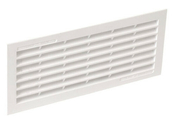 Grille d'aération classique d'intérieur NICOLL rectangulaire avec moustiquaire coloris blanc 1B111 haut.108mm larg.254mm - Grilles de ventilation - Chauffage & Traitement de l'air - GEDIMAT