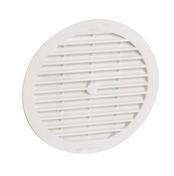 Grille d'aération classique d'intérieur ronde NICOLL avec moustiquaire coloris blanc 1B113 diam.150mm - Gaine souple PVC gris diam.100mm long.6m - Gedimat.fr