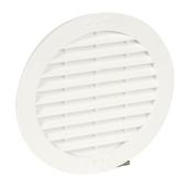 Grille d'aération NICOLL ronde pour tuyau fibre-ciment avec moustiquaire diam.100mm coloris blanc - Kit de liaison pour MODULESCA - Gedimat.fr