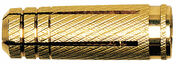 Cheville laiton MS - 6x24mm - sachet de 30 pièces - Cheville à clouer nylon + vis diam.6mm long.40mm - Gedimat.fr